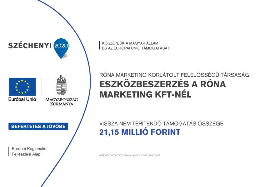 Eszközbeszerzés a Róna Marketing Kft-nél